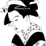 cinese bianco nero grafica