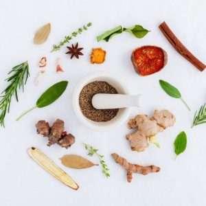 spezie varie rosmarino zenzero menta cannella